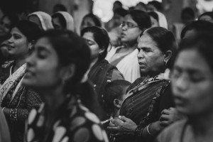 A Northern Indian woman at the 2014 I Thirst For You Conference in Lucknow, Uttar Pradesh, India.